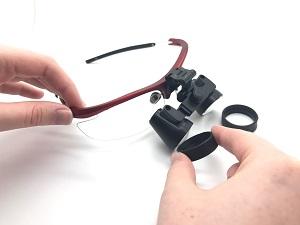 flip-up Lupenbrille zusammenbau Bild 1